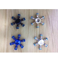 China 2017 Popular Fidget Spinner, ABS Material Hand Spinner, Multi color stress release handspinner finger toys factory