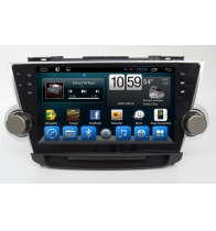 จีน Android 7.1Quad Core 1024*600 Car DVD player GPS Navigation stere for Toyota Highlander 2012 โรงงาน