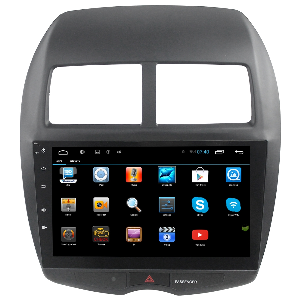 for 1024 600 10 2 inch android mitsubishi asx car radio. Black Bedroom Furniture Sets. Home Design Ideas